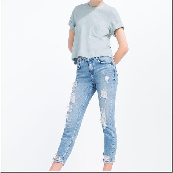 dc98af8b Zara trafaluc ripped jeans. M_5aef89a75512fdb7bcf0800f